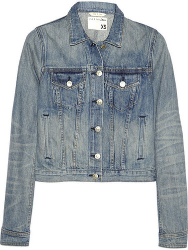 Rag & bone JEAN Washed-denim jacket