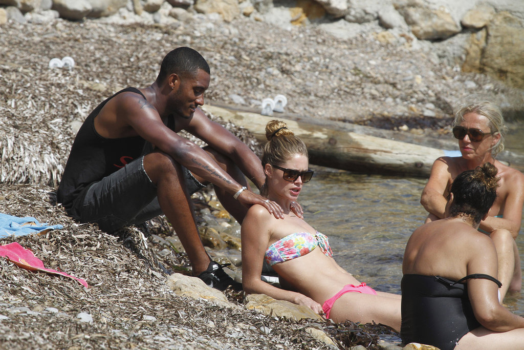 Sunnery James gave his wife Doutzen Kroes a massage in Spain.