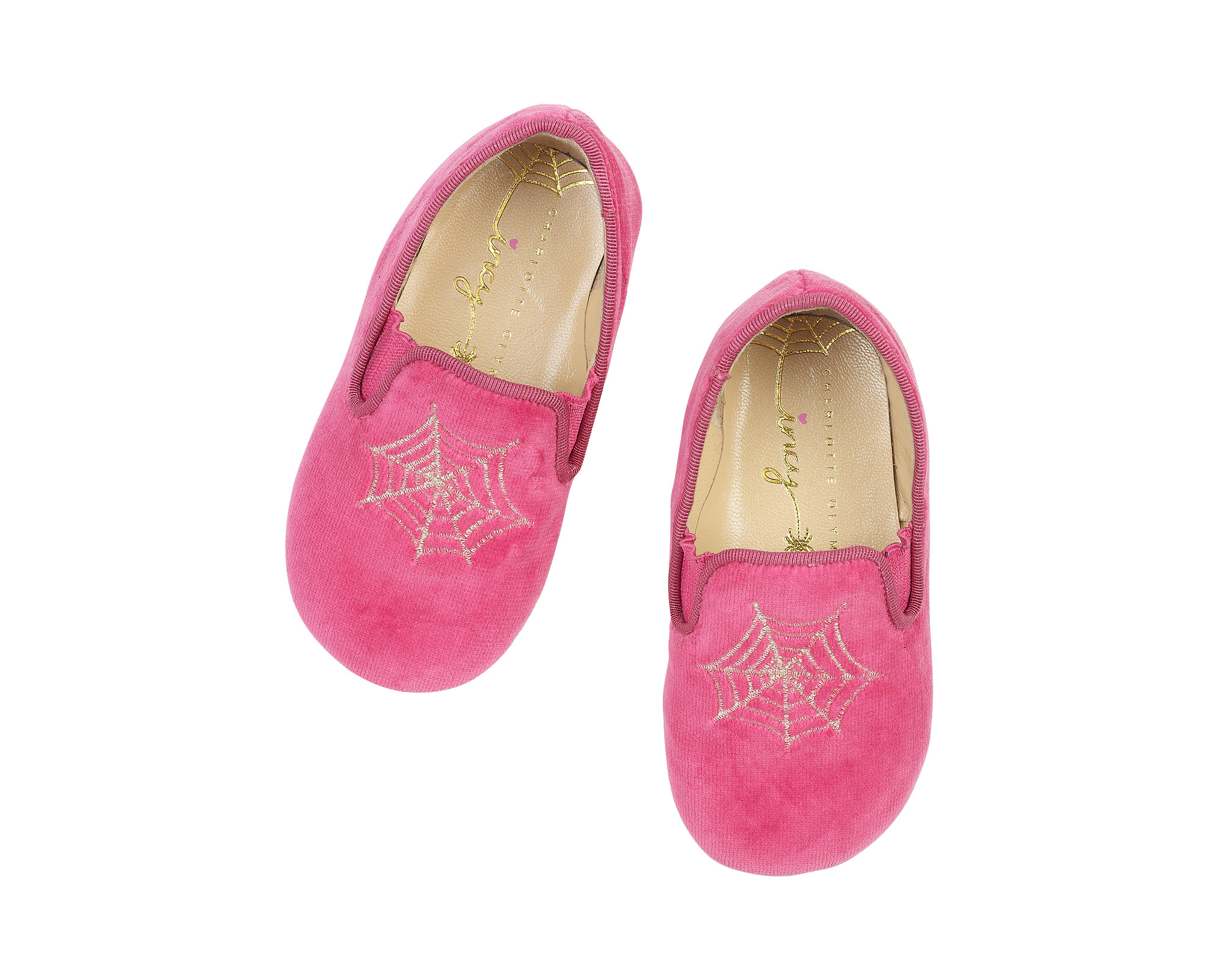 Charlotte Olympia Wincy slip-on shoes ($125) in pink ...