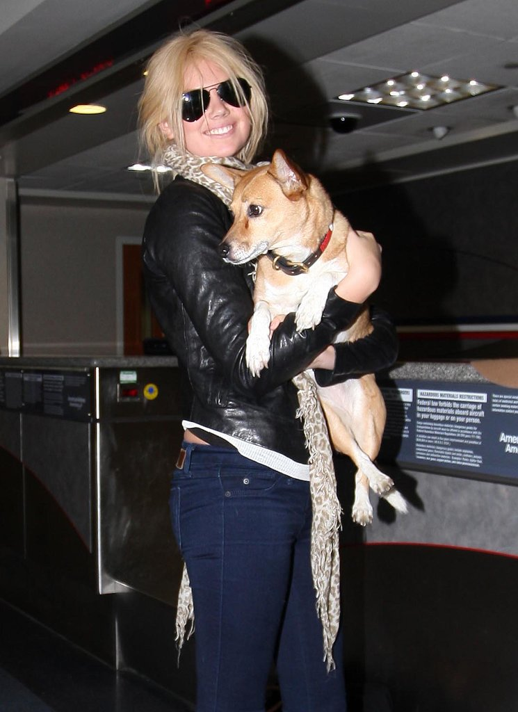 Kate Upton travels with her adorable dog, Boots, and has admitted that she often orders room service for the sweet pooch when they stay in hotels.