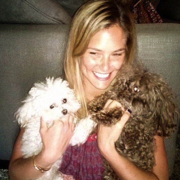 Photo of Bar Refaeli & her Dog MishMish & Pucci