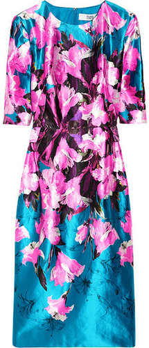 Prabal Gurung Floral-print cotton and silk-blend satin dress