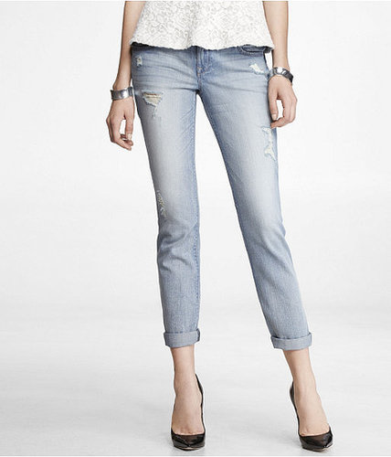 Stella Destroyed Ankle Skinny Leg Jean