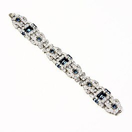 Ben-Amun Sapphire Deco Crystal Bracelet