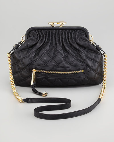 Marc Jacobs Stam Little Quilted Leather Crossbody Bag, Black