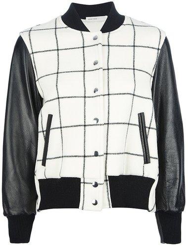 Sacai Luck check bomber jacket