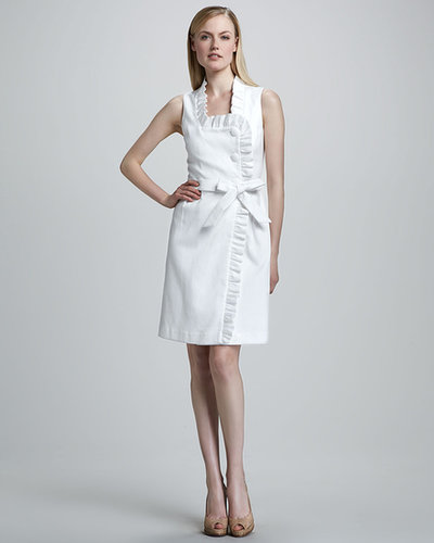 Bigio Collection Ruffle-Trim Wrap Dress