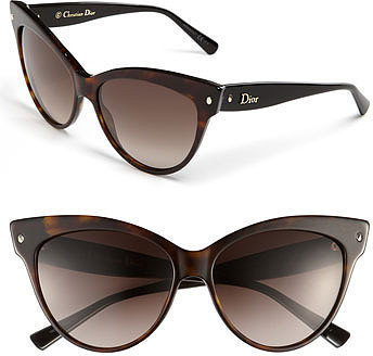 Dior 'Mohotani' 58mm Cat's Eye Sunglasses Havana/ Black One Size