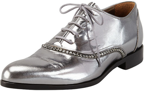 Lanvin Metallic Crystal-Trim Oxford