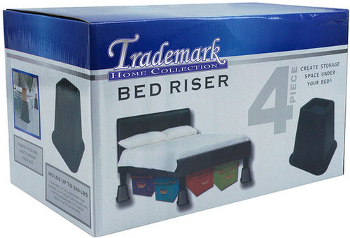 Bed Raisers for Under the Bed Storage (Set of 4)