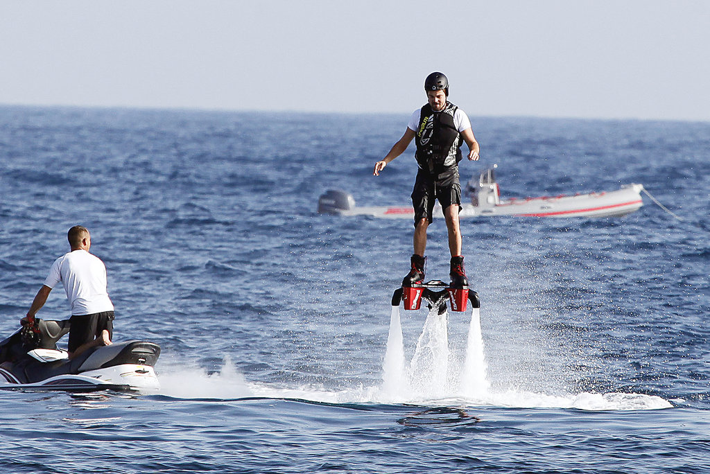 Leonardo DiCaprio played with cool new toys while holidaying in Ibiza on August 6.