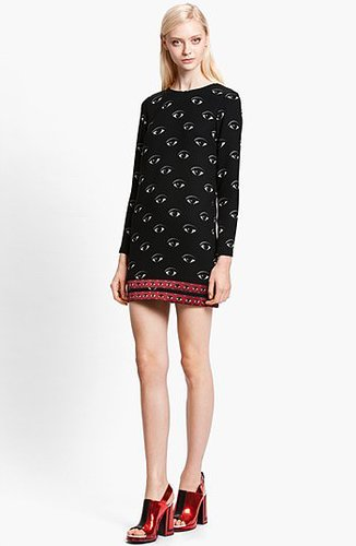 KENZO Eye Print Shift Dress
