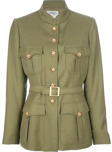 Chanel Vintage button detail military jacket