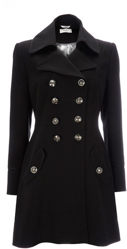 Black Petite Military Coat