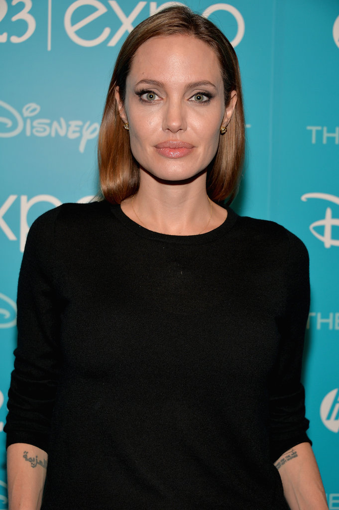 Angelina Jolie stepped out for the D23 Expo in LA on Saturday.