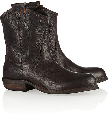 Fiorentini & Baker Cruna oiled-leather ankle boots