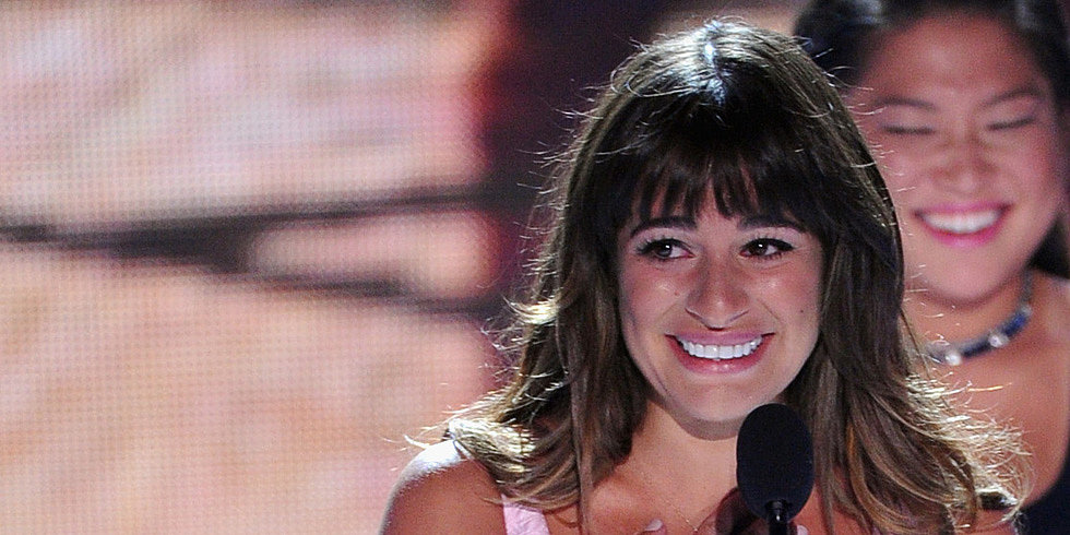 Lea Michele Makes an Emotional Appearance at the Teen Choice Awards