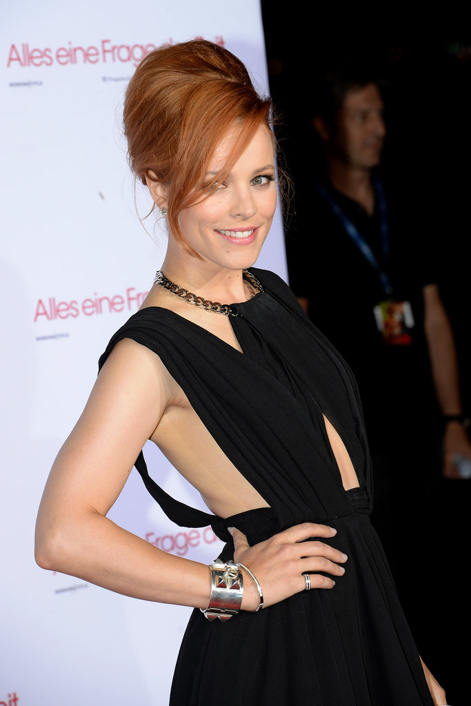 Rachel McAdams hit the red carpet for the Munich screening of About Time.