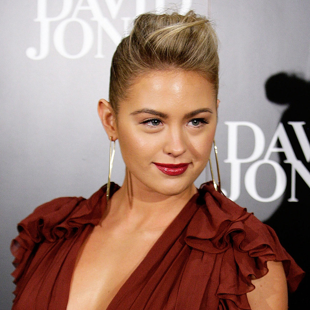 Jesinta rocked mulberry lips in May of this year alongside a cool up 'do.