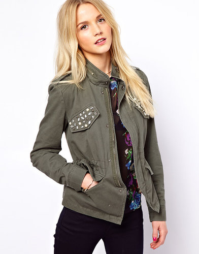 A Wear Embellished Military Jacket