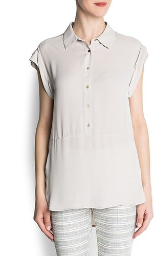Loose-fit chiffon blouse
