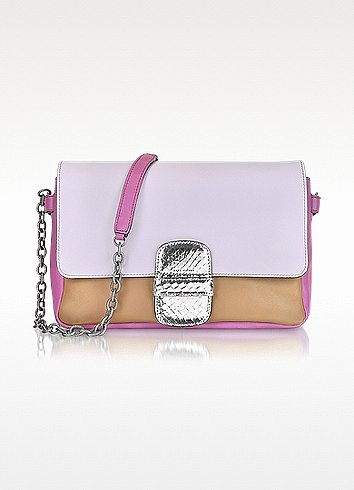 Marc Jacobs Violet Leather Shoulder Bag