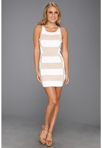 Parker - Leigha Combo Dress (Almond/White) - Apparel