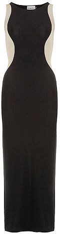 Black maxi illusion dress