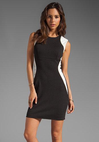 Eight Sixty Slim Illusion Dress in Vanilla/Black