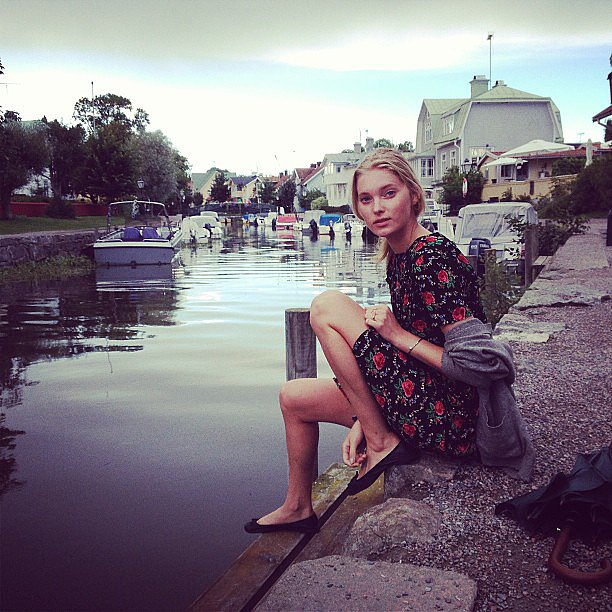 Elsa Hosk relaxed in her native Sweden. Source: Instagram user elsahosk