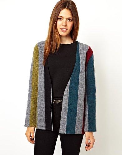 ASOS Jacket in Wide Stripe