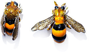 Delfina Delettrez Sterling silver bee earrings