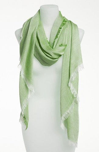 Nordstrom 'Allover Fringe' Wrap Womens Champagne One Size One Size