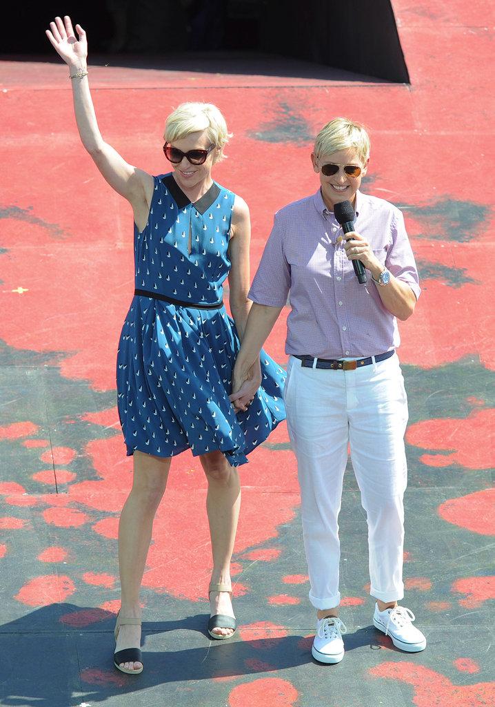 Ellen and Portia held hands for a March 2013 trip to Australia for Ellen's show.