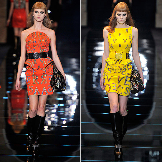 These Fall 2012 runway looks literally have Versace written all over them!