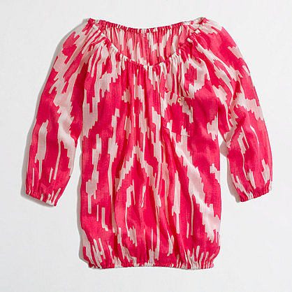 Factory neon gauze blouse