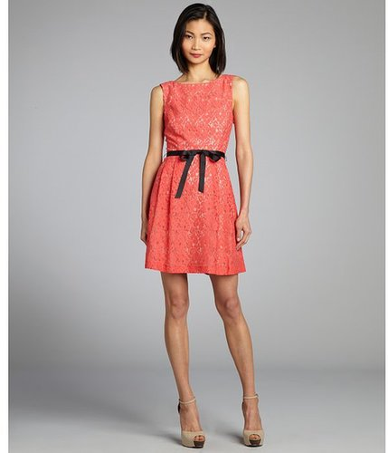 Single coral and nude a-line lace 'Annie' dress
