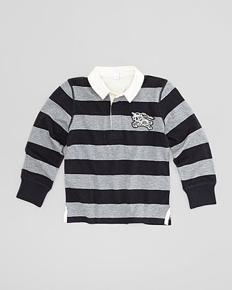 Burberry Boys' Rugby Polo Shirt, Navy, 4Y-10Y