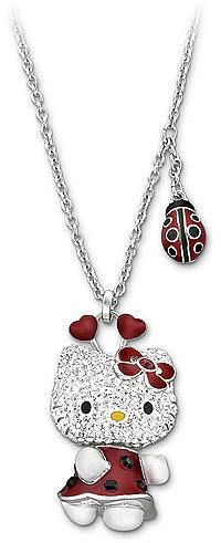 Hello Kitty Lady Bug Pendant