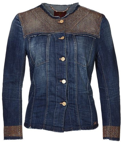 7 for all mankind Veste en jean bleu