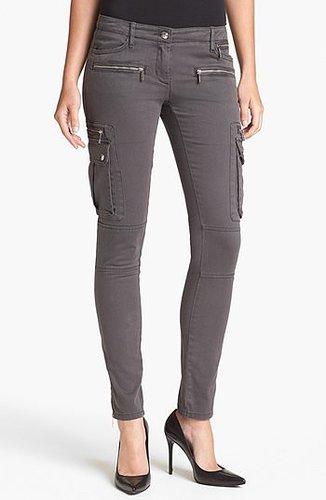 MICHAEL Michael Kors Skinny Cargo Pants Womens Slate Grey Size 6 6