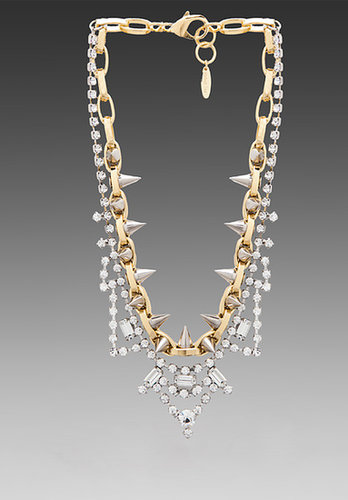 JOOMI LIM Crystal & Spike Necklace in Gold/Silver Spikes/Crystal