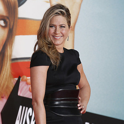 Jennifer Aniston Wears a Short Black Dress in Berlin