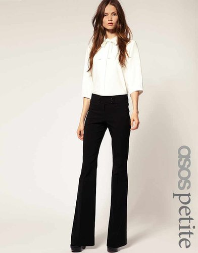 ASOS PETITE Kick Flare Pants With Button Detail