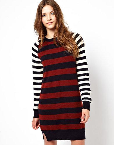 Chinti & Parker Mix Stripe Cashmere Sweater Dress