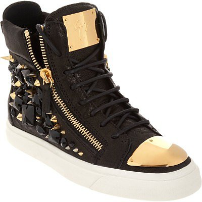 GIUSEPPE ZANOTTI EMBELLISHED ZIP HIGH TOP