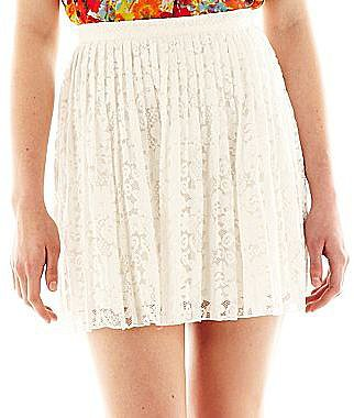 Allen B.® Lace Pleated Short Skirt