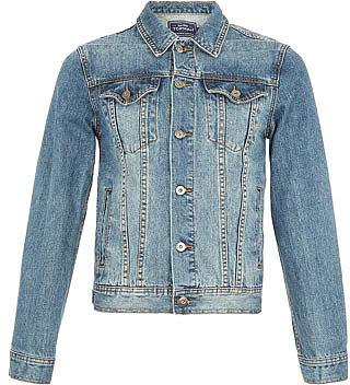 Jeans-Westernjacke in Mid Wash