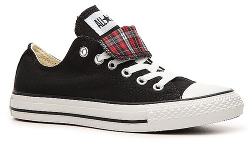 Converse Double Tongue Plaid Print Sneaker