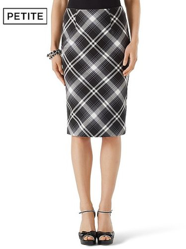 Petite Bristol Plaid Pencil Skirt